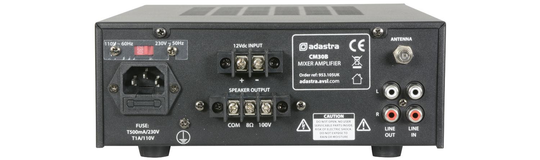 adastra CM30B mixer-amp 100V + USB/FM/BT