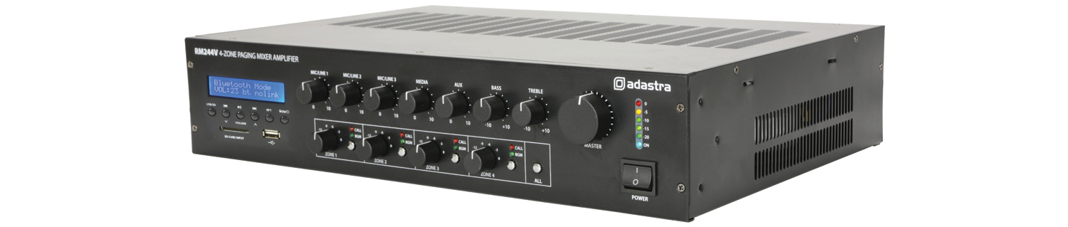 RM244V Mixer-amp with 4-zone paging