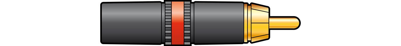 "NEUTRIK"" NYS373-2, RCA phono plug - Red ID band"