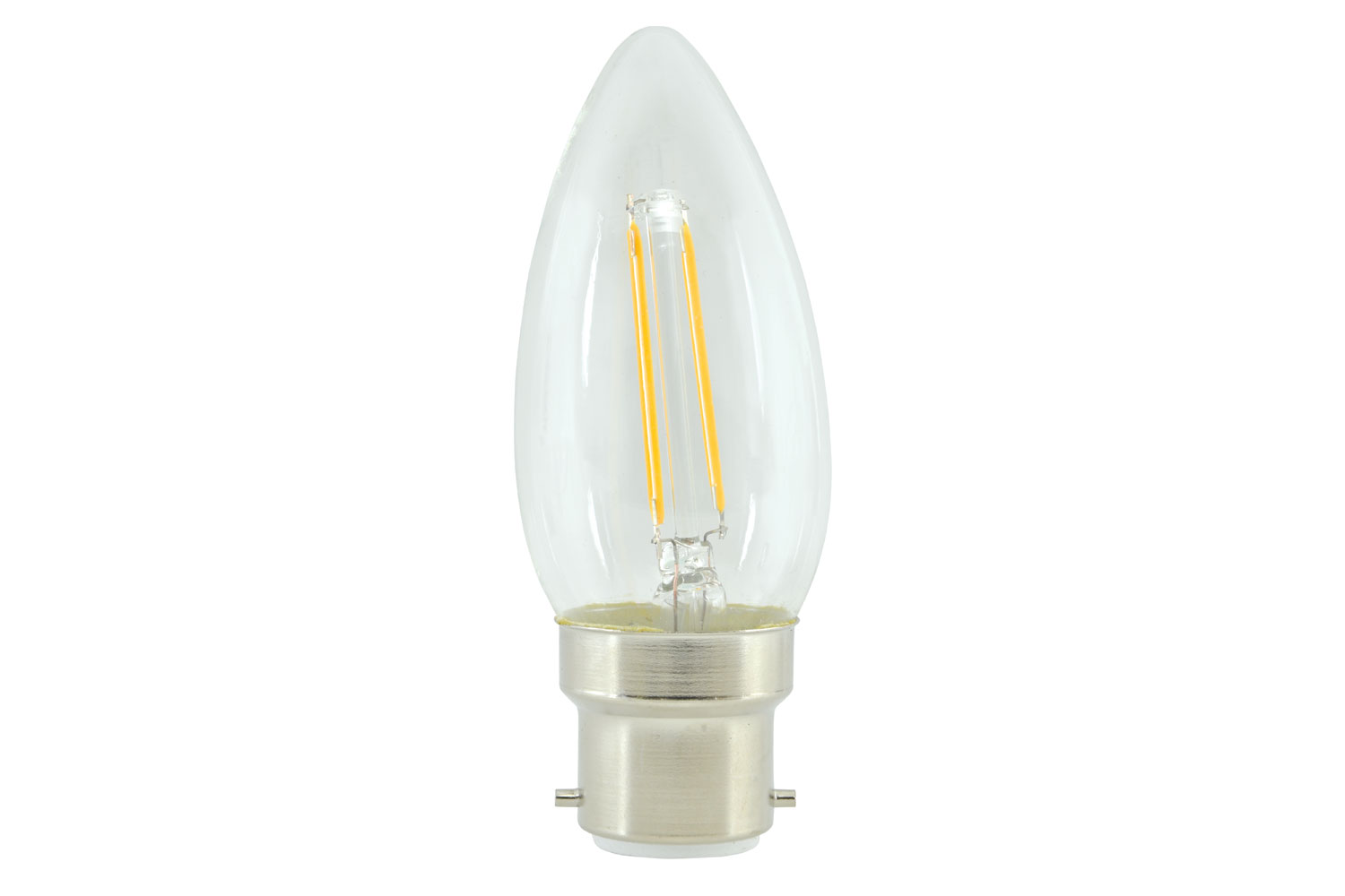 lyyt Candle Filament Lamp 2W LED B22 WW