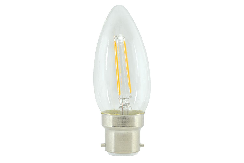 lyyt Candle Filament Lamp 2W LED B22 WW