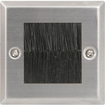 Brush wallplate - single steel by avlink, Part Number 122.270UK