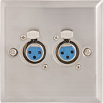 Wallplate 2 x 3pin XLR Sockets by avlink, Part Number 122.317UK