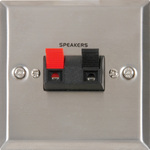 Speaker wallplate for a single speaker Steel by avlink, Part Number 122.393UK