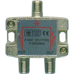 STV202 2-way satellite F splitter by Mercury, Part Number 122.807UK