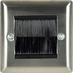 Brush wallplate single - steel by avlink, Part Number 123.270UK