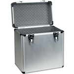 12in vinyl flight Case, aluMinium Deluxe, holds 50 x 12in by Citronic, Part Number 127.028UK