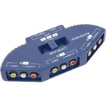 Audio/Video input selector, 3-way, Blue by avlink, Part Number 128.553UK
