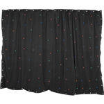 1 x 2m Black Star Cloth with 40 RGB LEDs by QTX, Part Number 151.172UK