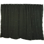 3 x 2m Black star cloth with 120 RGB LEDs by QTX, Part Number 151.176UK