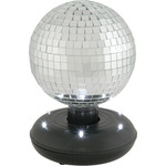 15cm Rotating Mirror Ball with LED Base by QTX, Part Number 151.734UK