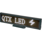 White desktop USB moving message display by QTX, Part Number 153.124UK