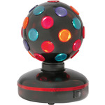 Rotating Disco Ball, 4- Colours, Free Standing by QTX, Part Number 153.144UK