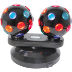 Dual Rotating Disco Balls, Free Standing by QTX, Part Number 153.150UK