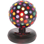 Large rotating disco ball, 5 colours, free Standing by QTX, Part Number 153.160UK