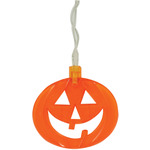 LED Halloween String Lights - 10 x Orange Pumpkins by QTX, Part Number 155.521UK