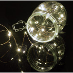 100 LED Copper Wire String Lights Cool White by lyyt, Part Number 155.627UK