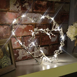 LED Wireframe Two Hearts Motif by lyyt, Part Number 155.660UK