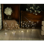 LED Wireframe HAPPY Motif Small by lyyt, Part Number 155.665UK