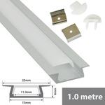 Aluminium LED tape profile 1m - recess by fluxia, Part Number 156.803UK