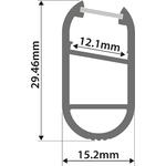Alu LED Profile - Wardrobe 1m by lyyt, Part Number 156.820UK