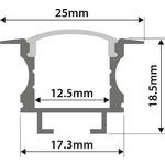 Alu LED Profile - T Insert 1m by lyyt, Part Number 156.821UK