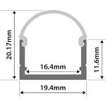 Alu LED Profile - U Section 1m by lyyt, Part Number 156.824UK