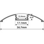 Alu LED Profile - Raised Bar 1m by lyyt, Part Number 156.826UK