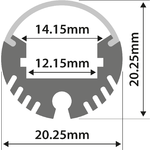Alu LED Profile - Tube Batten 1m by lyyt, Part Number 156.829UK
