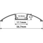 Alu LED Profile - Raised Bar 2m by lyyt, Part Number 156.836UK