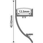 Alu LED Profile - Dado Rail 2m by lyyt, Part Number 156.837UK