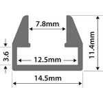 Alu Profile - M8 Shelf Slot 1m by lyyt, Part Number 156.848UK