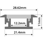 Waterproof Profile - Recess 2m by lyyt, Part Number 156.851UK