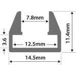 Alu Profile - M8 Shelf Slot 2m by lyyt, Part Number 156.858UK