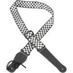 Web Guitar Strap Black + White Chequered by Chord, Part Number 173.022UK