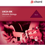 Ukulele string set - clear by Chord, Part Number 173.171UK