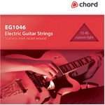Electric Guitar strings, Steel/nickel, Custom Light plus (10-46) by Chord, Part Number 173.181UK