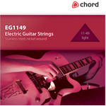Electric Guitar strings, Steel/nickel, Light (11-49) by Chord, Part Number 173.184UK