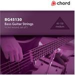 Bass Guitar strings, Nickel, Medium (45-130 5 Strings) by Chord, Part Number 173.196UK