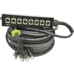 8 XLR Stage Snake 15m by Chord, Part Number 173.908UK