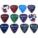 12 Assorted Plectrums In A Tin by Chord, Part Number 174.995UK
