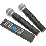 PAV8 portable PA set + 2 UHF mics, CD/DVD, USB/SD & Bluetooth by QTX, Part Number 178.859UK
