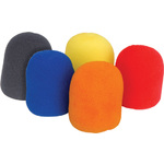 Microphone windshields - set of 5 colours by QTX, Part Number 188.013UK