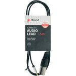 Stereo Minijack to mono XLRM lead - 1.5m by Chord, Part Number 190.230UK