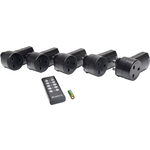 Set of 5 IR controlled socket by Mercury, Part Number 350.115UK