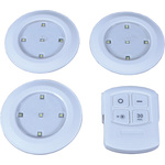 Set of 3 LED Push Lights with Remote Control by lyyt, Part Number 410.400UK