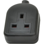 MSB46B 1 gang rubber socket, Black by Mercury, Part Number 429.619UK