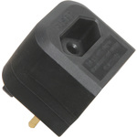 Black BCA Euro Converter Plug by Mercury, Part Number 429.806UK