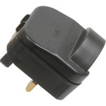 Black SCP 13A Euro Converter Plug by Mercury, Part Number 429.814UK