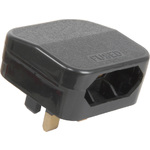 Black FCP Fused Euro Converter Plug by Mercury, Part Number 429.823UK